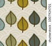 seamless leaf pattern.   Shutterstock .eps vector #1007924701