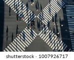 aerial view of people passing... | Shutterstock . vector #1007926717