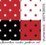 seamless vector pattern set.... | Shutterstock .eps vector #1007928535
