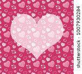 seamless monochrome pattern... | Shutterstock . vector #1007930284
