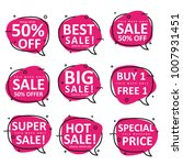 set of speech bubble shape use... | Shutterstock .eps vector #1007931451