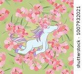 retro style botanical... | Shutterstock .eps vector #1007932021