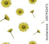 cute hand drawn daisy seamless... | Shutterstock .eps vector #1007932471