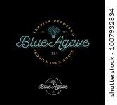blue agave tequila logo. emblem ...   Shutterstock .eps vector #1007932834