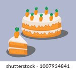 vector illustration of a carrot ... | Shutterstock .eps vector #1007934841