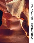 Small photo of Geological formation of the Lower Canyon of Antelope, Arizona, USA. Stone texture