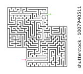 abstract maze labyrinth with...   Shutterstock .eps vector #1007940511