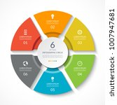 infographic circle. process... | Shutterstock .eps vector #1007947681