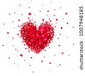 heart of little red hearts on a ...   Shutterstock .eps vector #1007948185