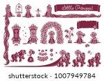 vector little princess... | Shutterstock .eps vector #1007949784