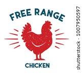 free range chicken vector file | Shutterstock .eps vector #1007950597