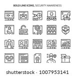 security  bold line icons. the... | Shutterstock .eps vector #1007953141