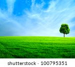 Abstract Rural Landscape. Gree...