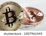 golden bitcoin coin. new...   Shutterstock . vector #1007961445