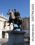 the statue of marcus aurelius...   Shutterstock . vector #1007961601