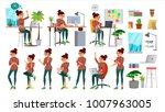 business woman character set... | Shutterstock .eps vector #1007963005