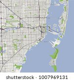vector map of the city of miami ... | Shutterstock .eps vector #1007969131