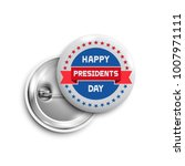 presidents day button badge... | Shutterstock .eps vector #1007971111