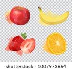 set of delicious fruit vector... | Shutterstock .eps vector #1007973664