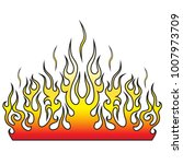 flame tattoo tribal vector... | Shutterstock .eps vector #1007973709