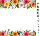 vector horizontal seamless... | Shutterstock .eps vector #1007975221