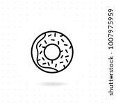 donut icon. sweet donut vector... | Shutterstock .eps vector #1007975959
