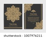 gold vintage greeting card on a ... | Shutterstock .eps vector #1007976211
