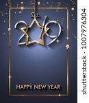 2019 happy new year background... | Shutterstock . vector #1007976304