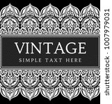vintage invitation card with... | Shutterstock .eps vector #1007979031
