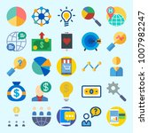 icons set about marketing with...   Shutterstock .eps vector #1007982247
