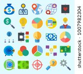 icons set about marketing with... | Shutterstock .eps vector #1007982304