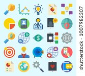 icons set about marketing with...   Shutterstock .eps vector #1007982307