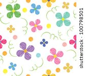 seamless pattern with flowers ... | Shutterstock .eps vector #100798501