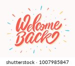 welcome back banner. | Shutterstock .eps vector #1007985847