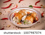 rolled vegetable salad at the...