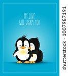love themed. postcard design... | Shutterstock .eps vector #1007987191