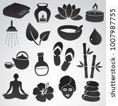 spa icon set. vector symbols... | Shutterstock .eps vector #1007987755