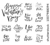 set of valentines day romantic... | Shutterstock .eps vector #1007988094