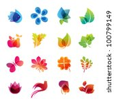 colorful nature icon set | Shutterstock .eps vector #100799149