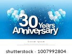 30th years anniversary greeting ... | Shutterstock .eps vector #1007992804