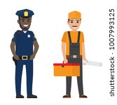 Policeman And Builder ...