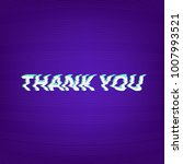 thank you phrase isolated on... | Shutterstock .eps vector #1007993521