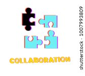 collaboration phrase and... | Shutterstock .eps vector #1007993809