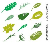 leaves  branches sketch set.... | Shutterstock .eps vector #1007993941