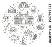 india icons set. indian...   Shutterstock .eps vector #1007995735