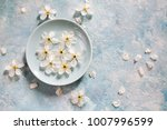 white and blue background with... | Shutterstock . vector #1007996599
