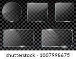 vector glass frame. isolated on ... | Shutterstock .eps vector #1007998675