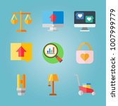 icon set about real assets.... | Shutterstock .eps vector #1007999779