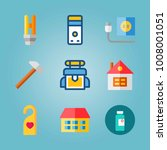 icon set about real assets.... | Shutterstock .eps vector #1008001051