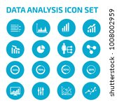 data analysis icon set | Shutterstock .eps vector #1008002959